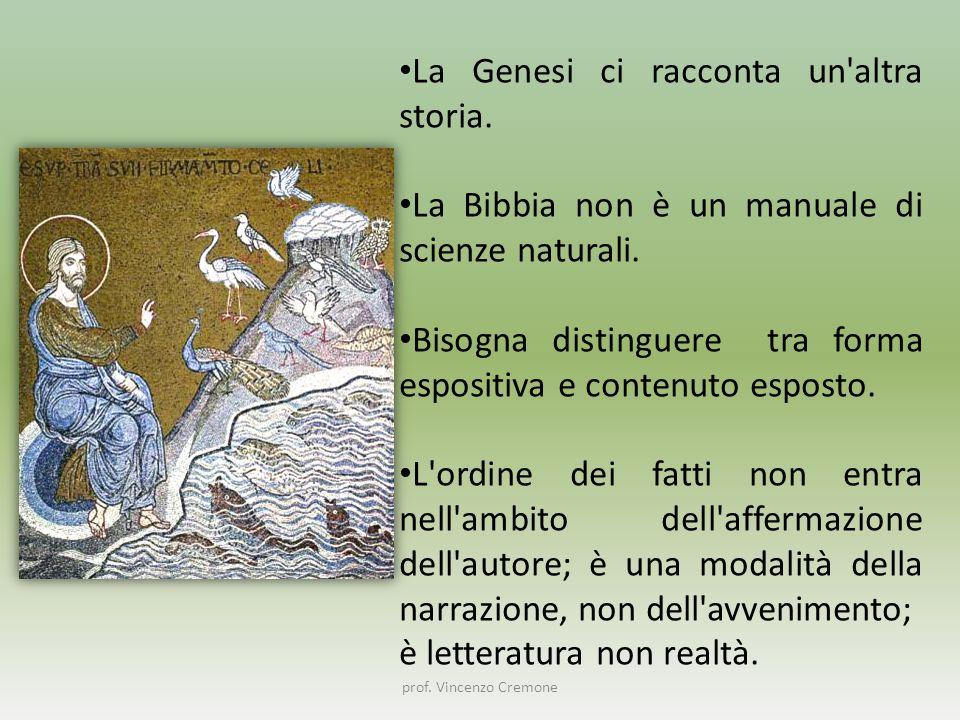 La Genesi ci racconta un altra storia.