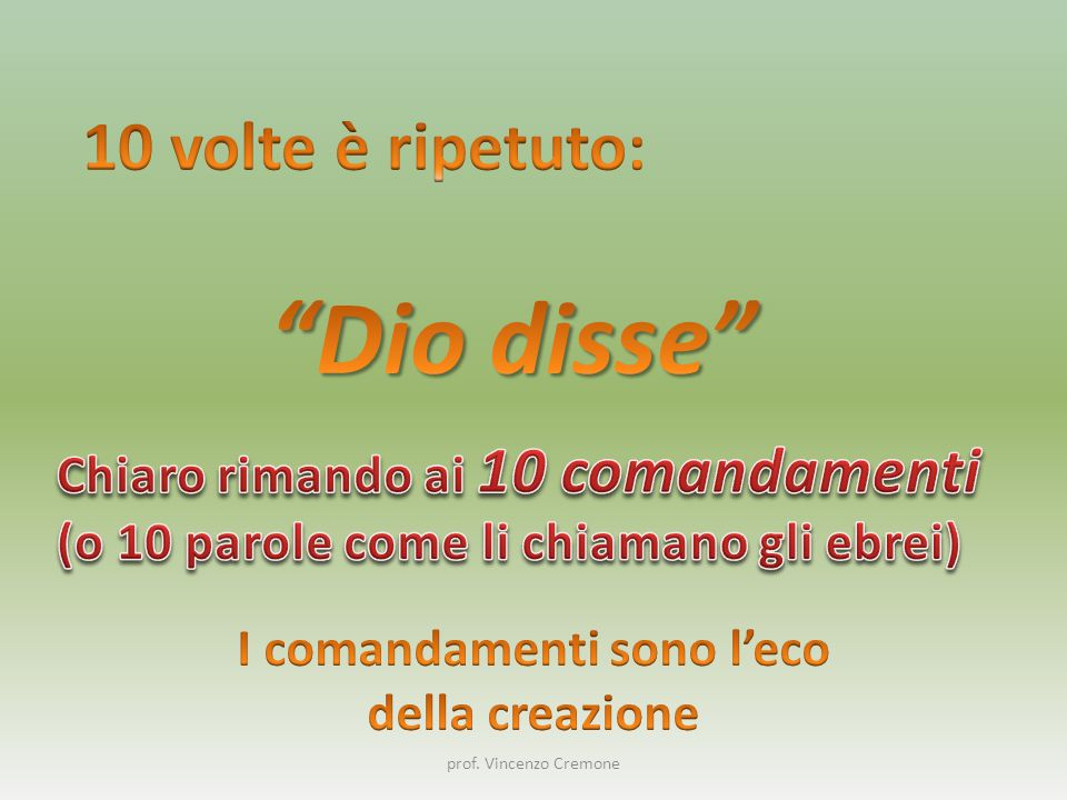 I comandamenti sono l'eco
