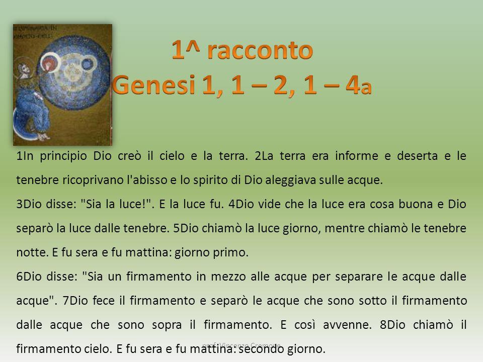 1^ racconto Genesi 1, 1 – 2, 1 – 4a