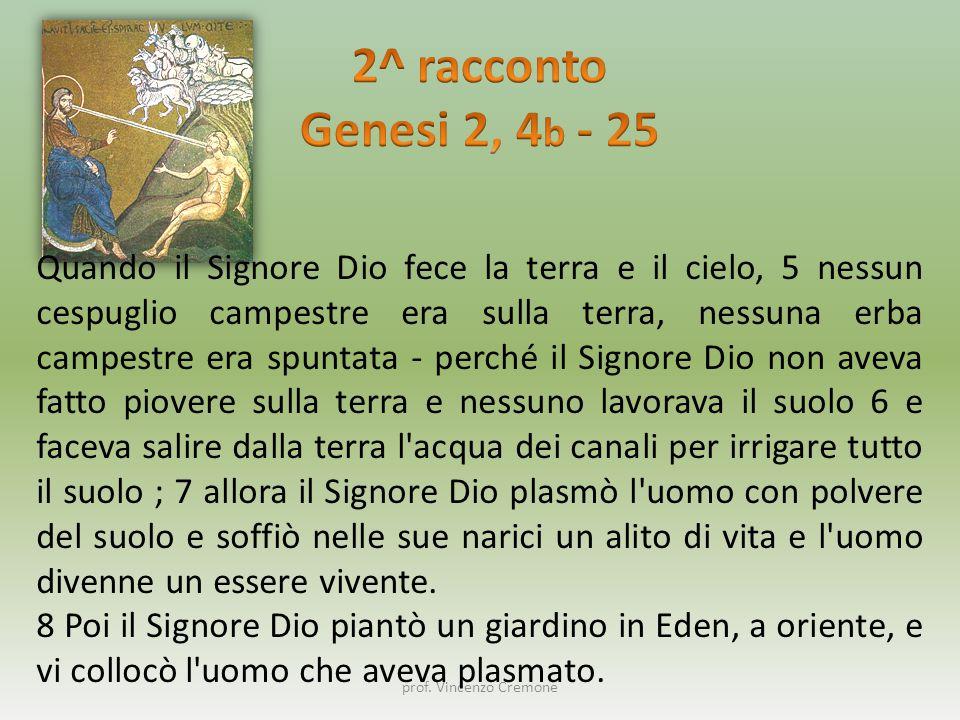 2^ racconto Genesi 2, 4b - 25