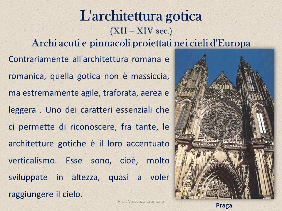 L architettura gotica (XII – XIV sec