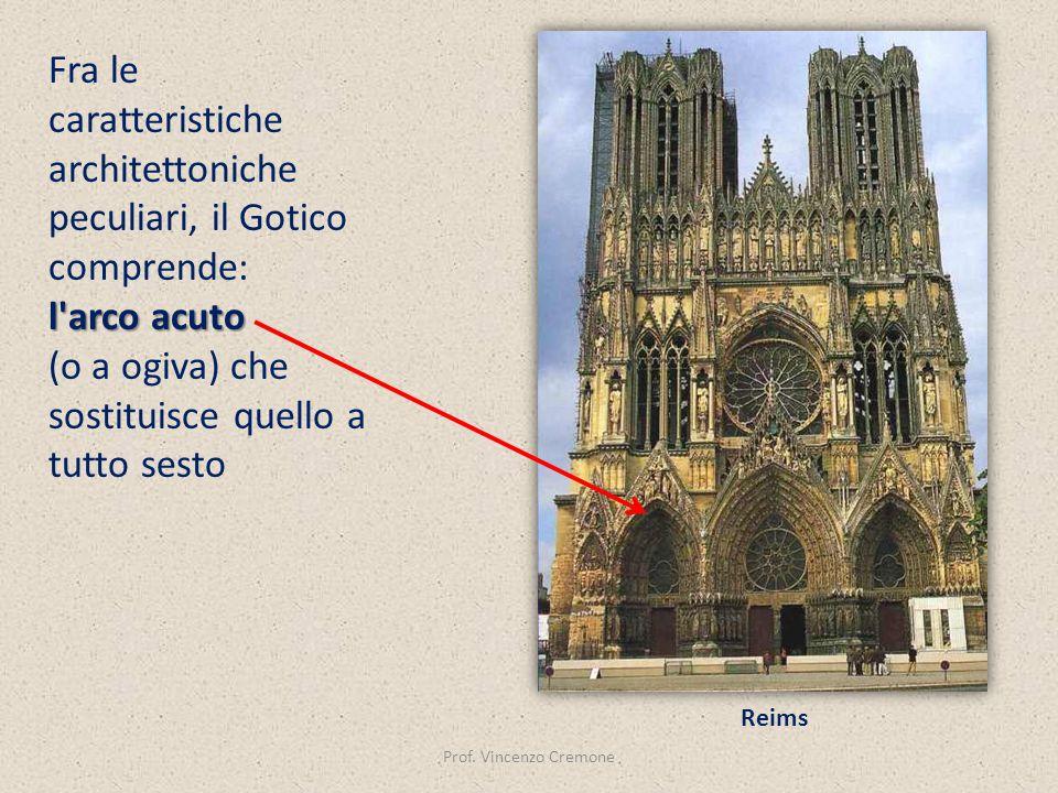 Fra le caratteristiche architettoniche peculiari, il Gotico comprende: