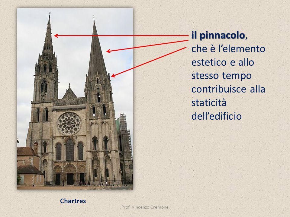 il pinnacolo, che è l'elemento estetico e allo stesso tempo contribuisce alla staticità dell'edificio.