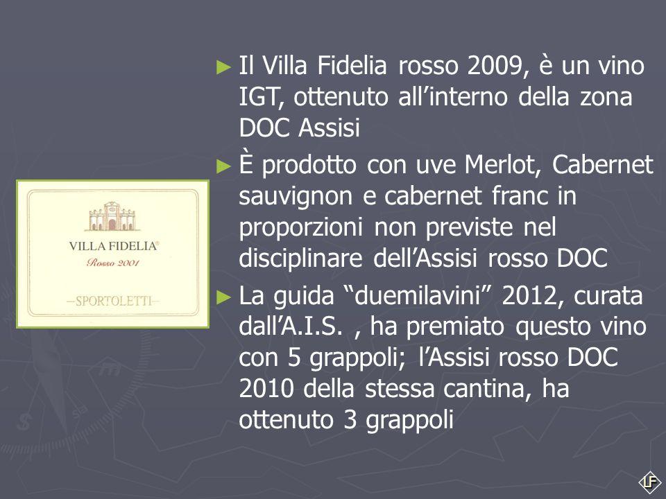 Il Villa Fidelia rosso 2009, è un vino IGT, ottenuto all'interno della zona DOC Assisi
