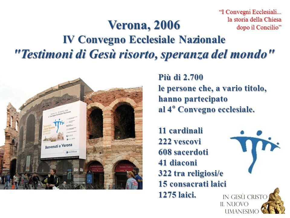 Verona, 2006 Testimoni di Gesù risorto, speranza del mondo