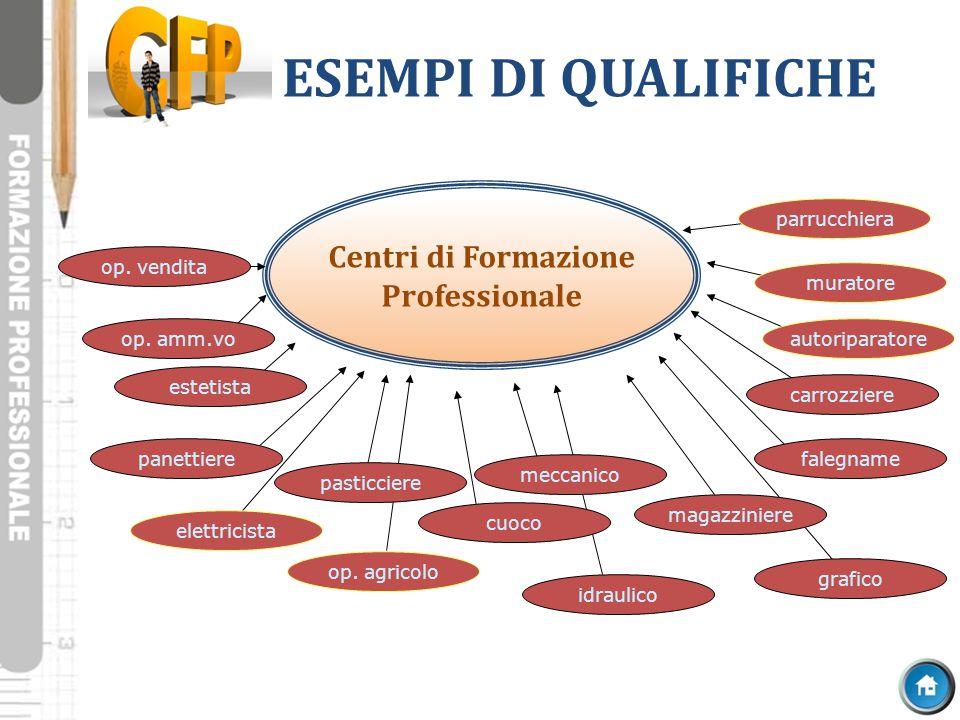 ESEMPI DI QUALIFICHE Centri di Formazione Professionale parrucchiera
