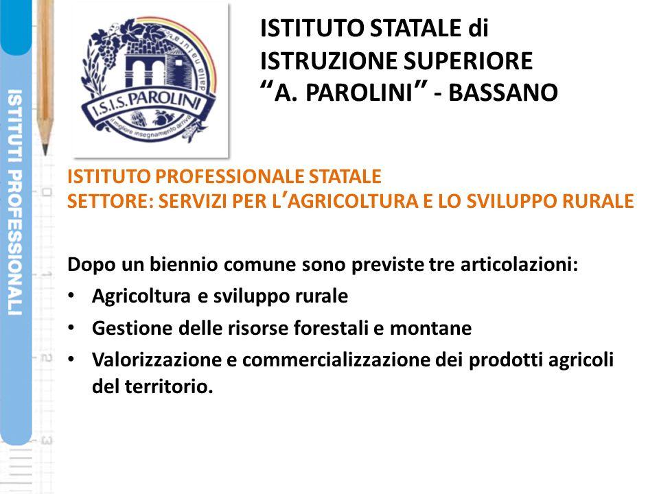 ISTITUTO STATALE di ISTRUZIONE SUPERIORE A. PAROLINI - BASSANO