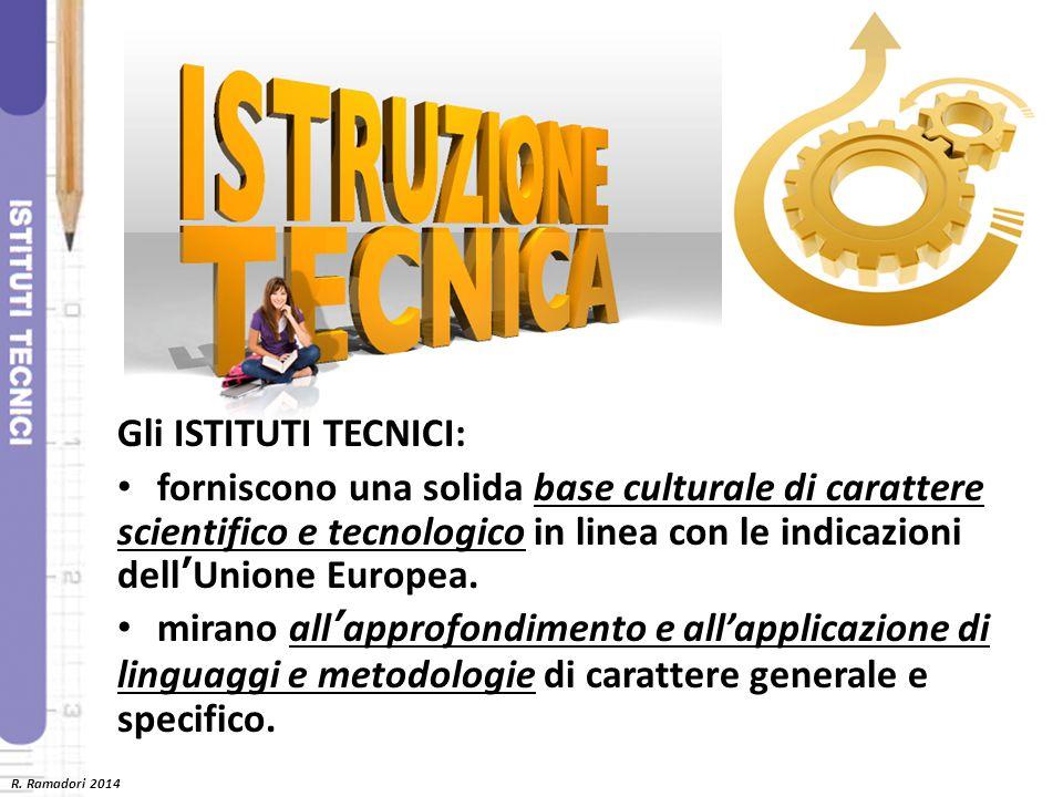 Gli ISTITUTI TECNICI: forniscono una solida base culturale di carattere scientifico e tecnologico in linea con le indicazioni dell'Unione Europea.