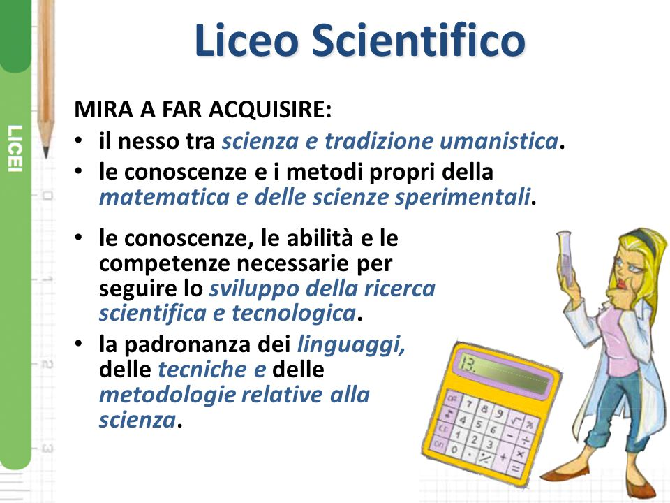 Liceo Scientifico MIRA A FAR ACQUISIRE: