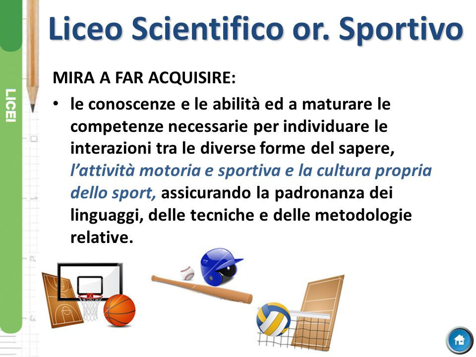 Liceo Scientifico or. Sportivo