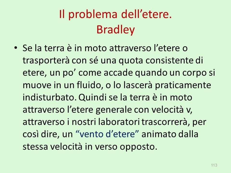 Il problema dell'etere. Bradley