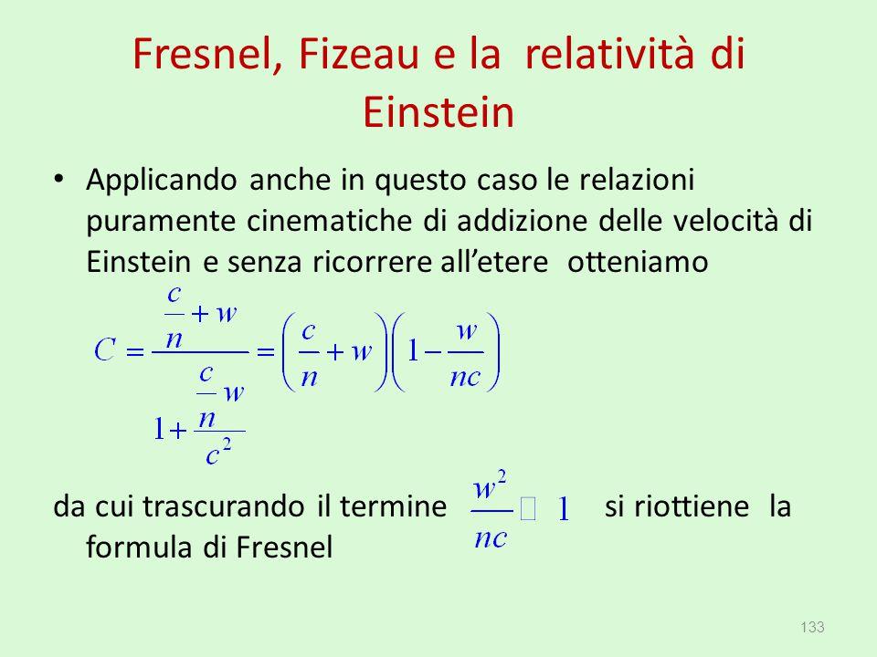 Fresnel, Fizeau e la relatività di Einstein