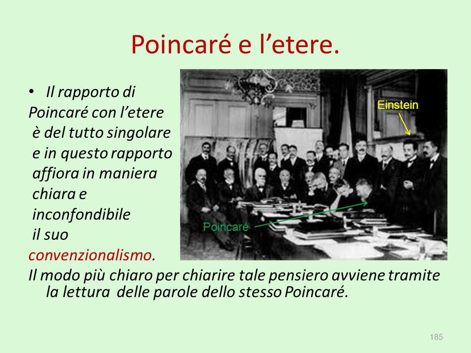 Poincaré e l'etere. Il rapporto di Poincaré con l'etere