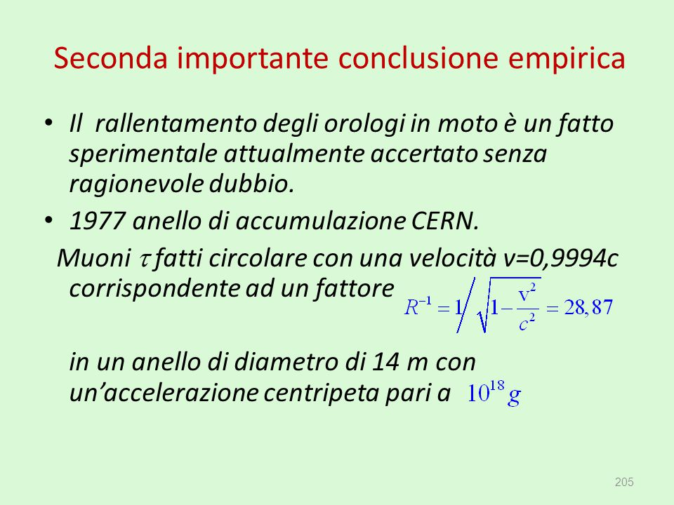 Seconda importante conclusione empirica