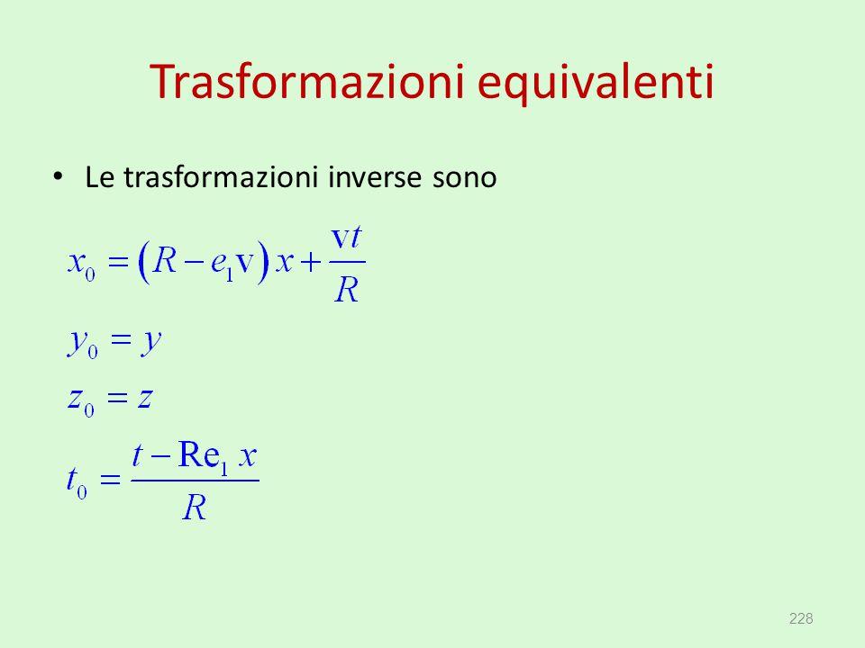 Trasformazioni equivalenti
