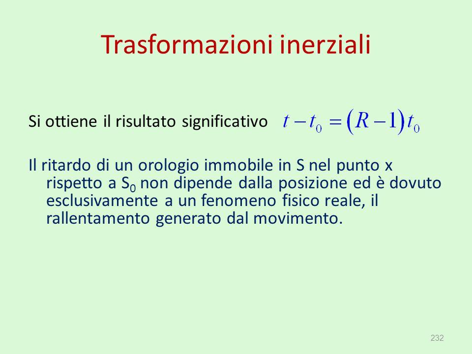 Trasformazioni inerziali