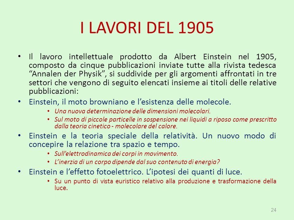 I LAVORI DEL 1905