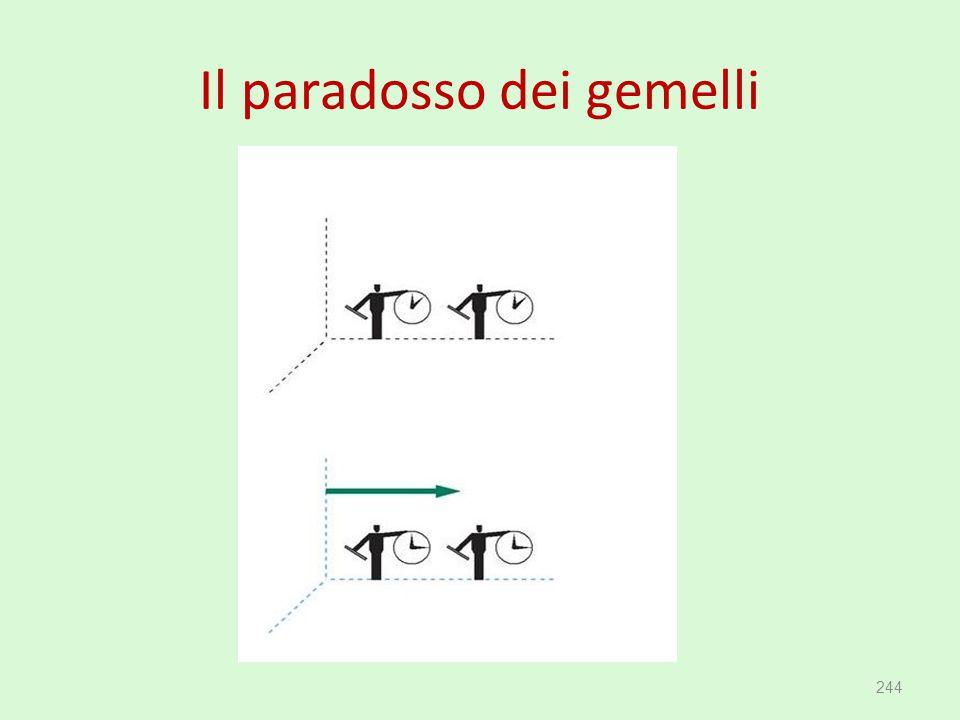 Il paradosso dei gemelli
