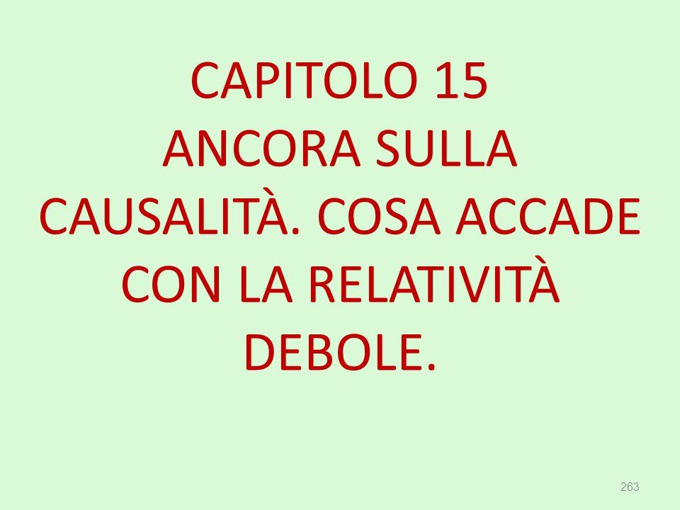 CAPITOLO 15 ANCORA SULLA CAUSALITÀ