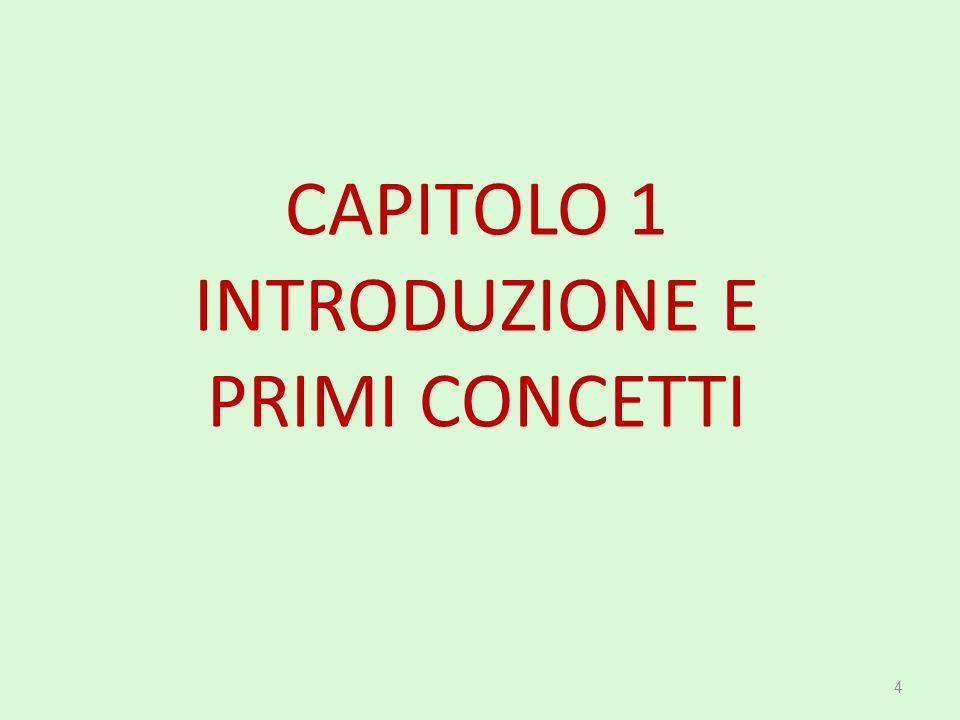 CAPITOLO 1 INTRODUZIONE E PRIMI CONCETTI