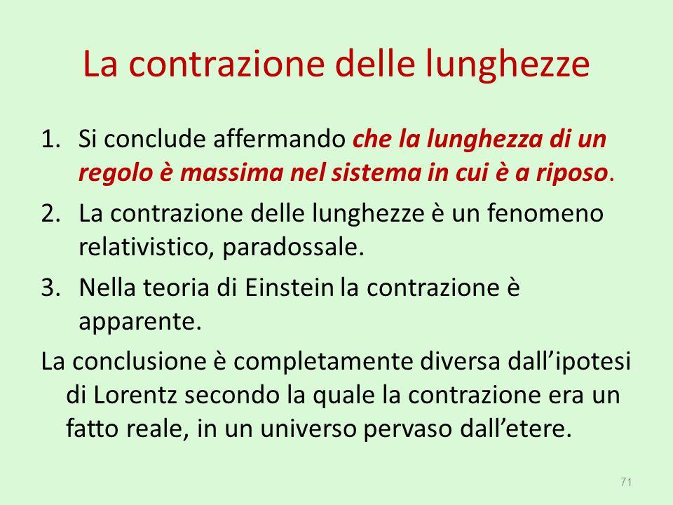 La contrazione delle lunghezze