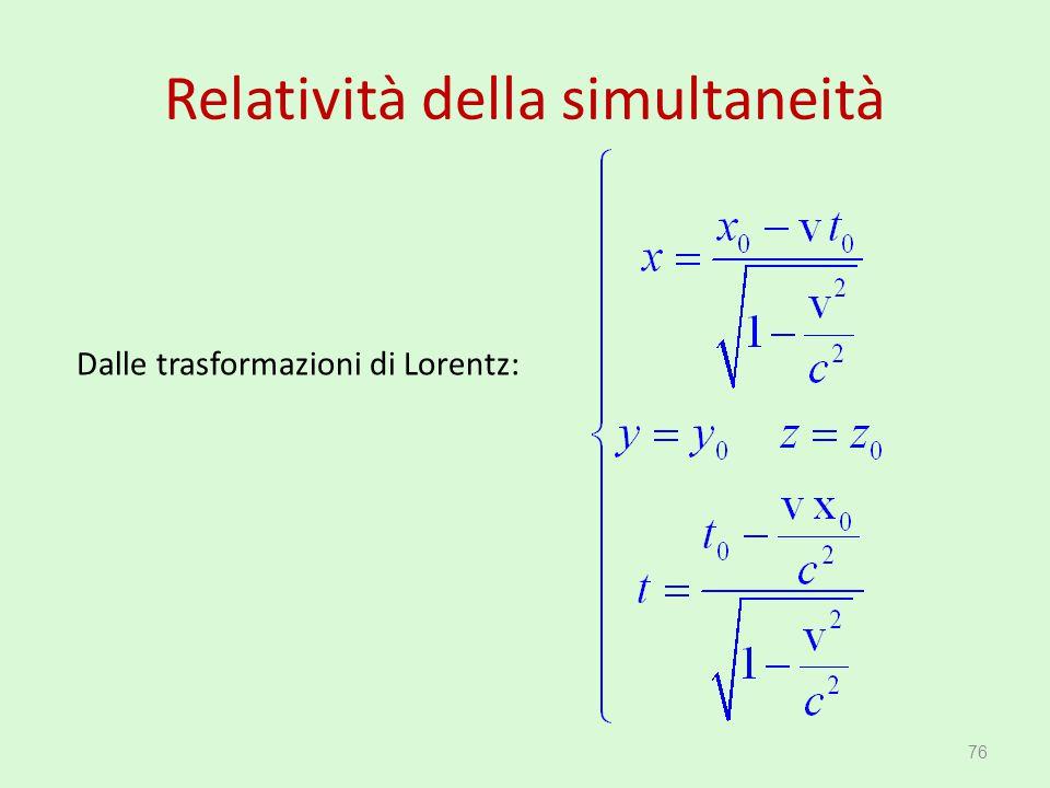 Relatività della simultaneità