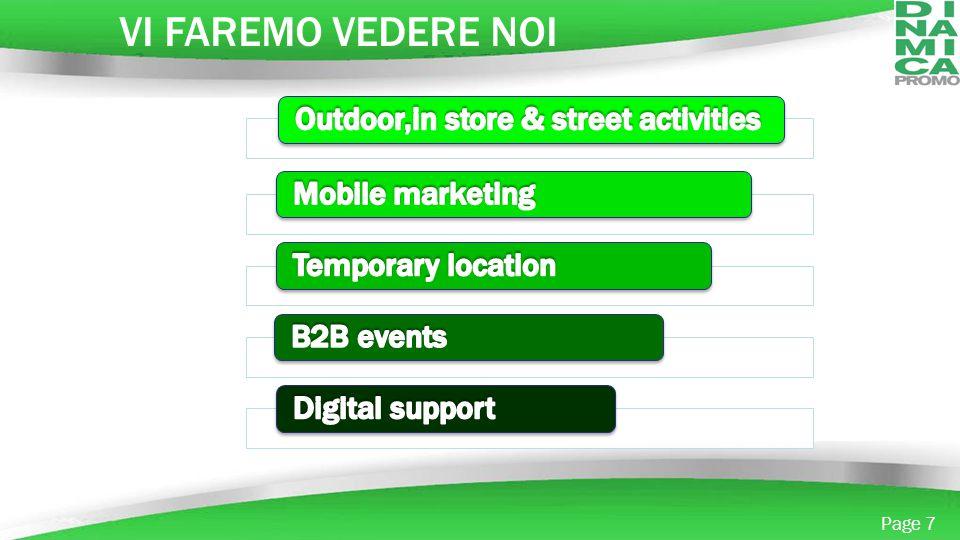 VI FAREMO VEDERE NOI Outdoor,in store & street activities