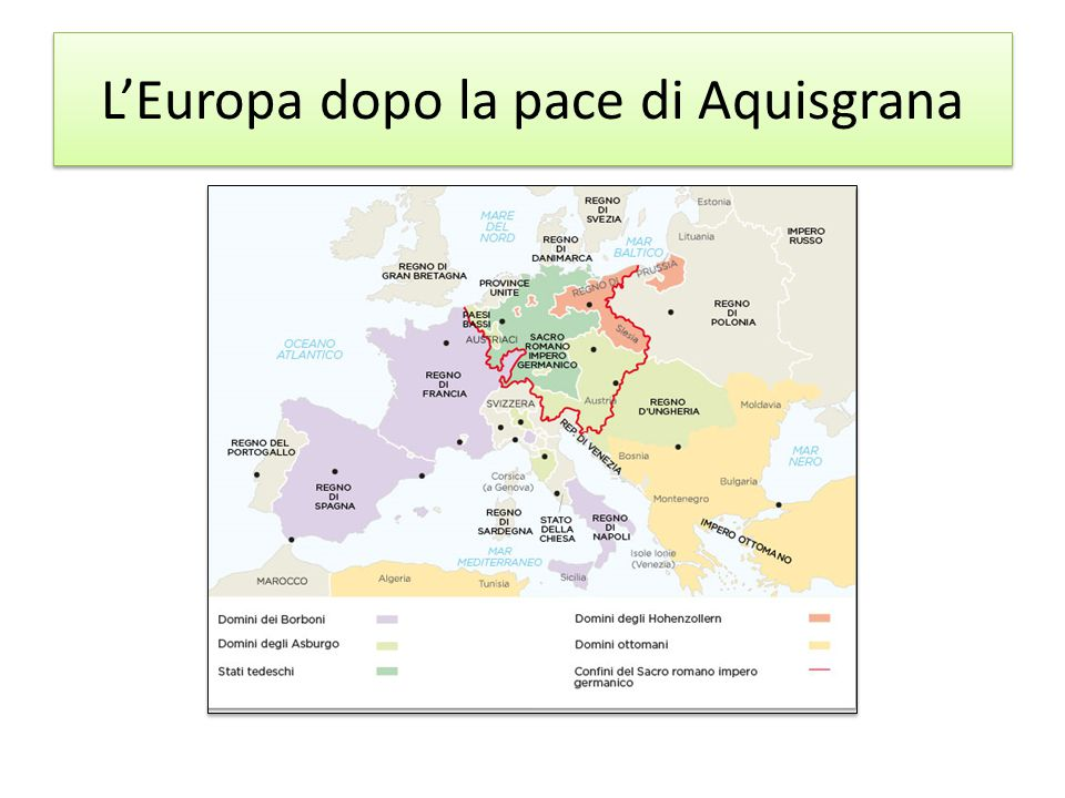 L'Europa dopo la pace di Aquisgrana