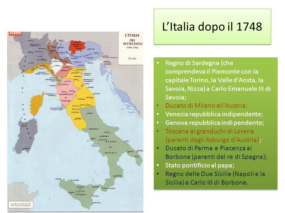 L'Italia dopo il 1748