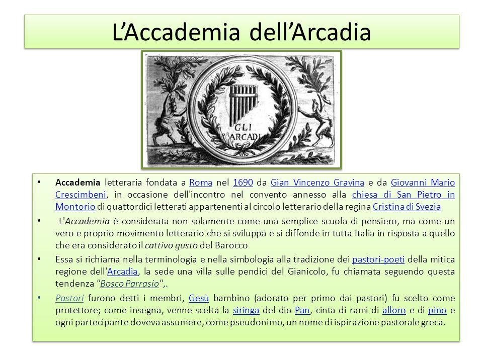 L'Accademia dell'Arcadia