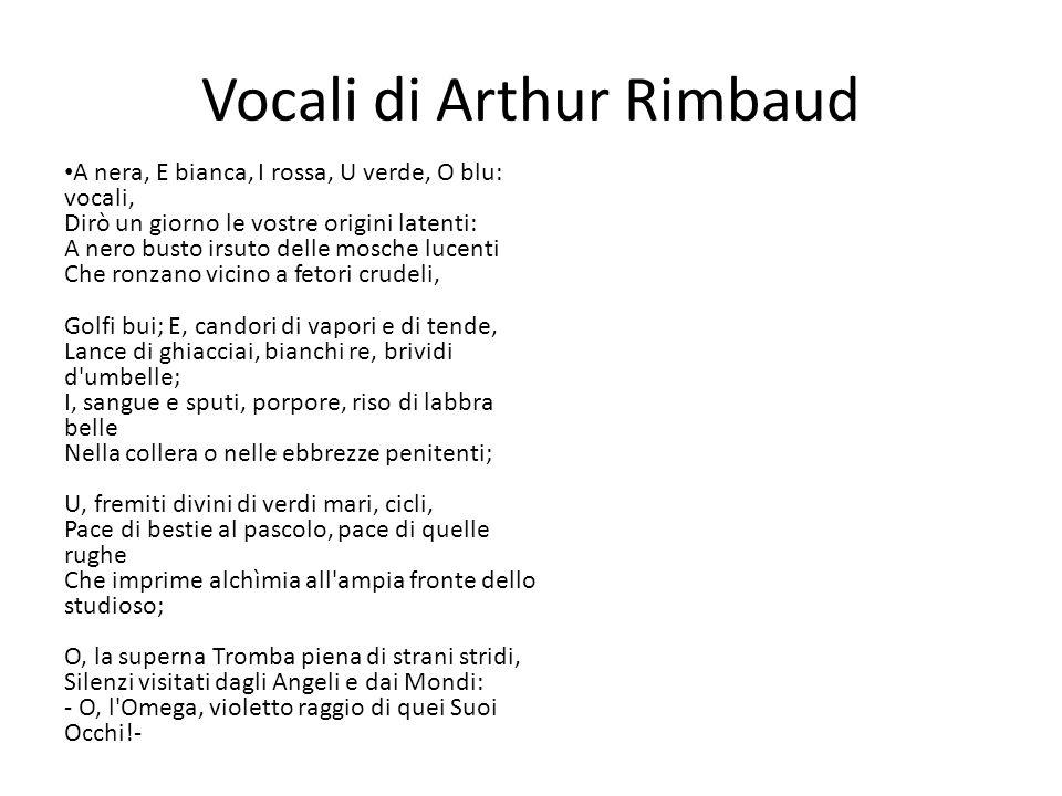 Vocali di Arthur Rimbaud