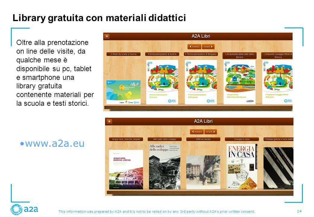 Library gratuita con materiali didattici
