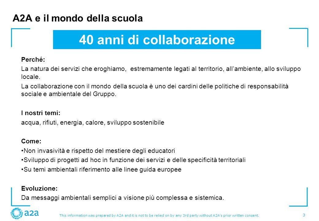 A2A e il mondo della scuola