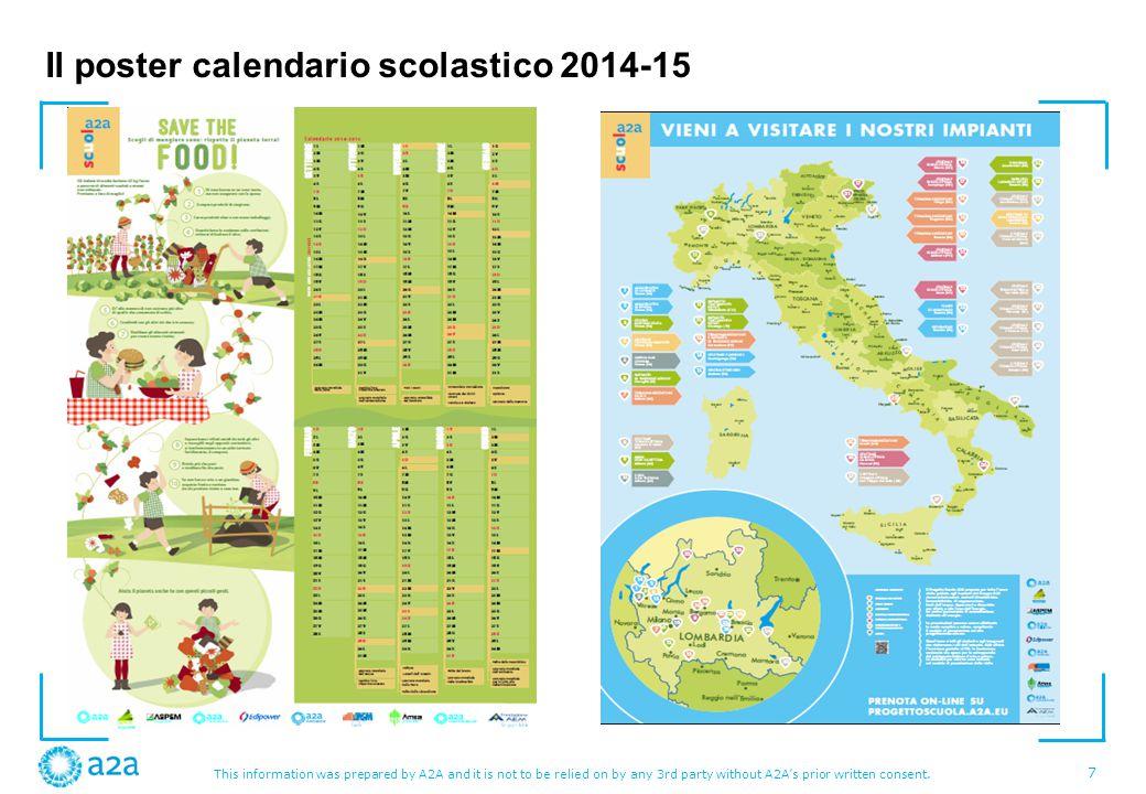 Il poster calendario scolastico 2014-15
