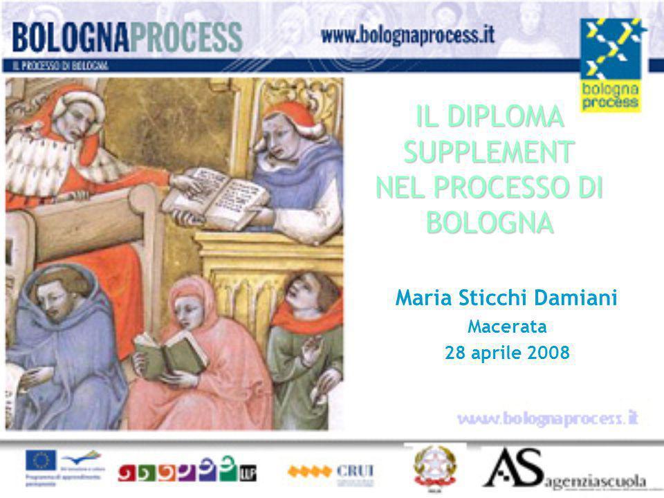 IL DIPLOMA SUPPLEMENT NEL PROCESSO DI BOLOGNA