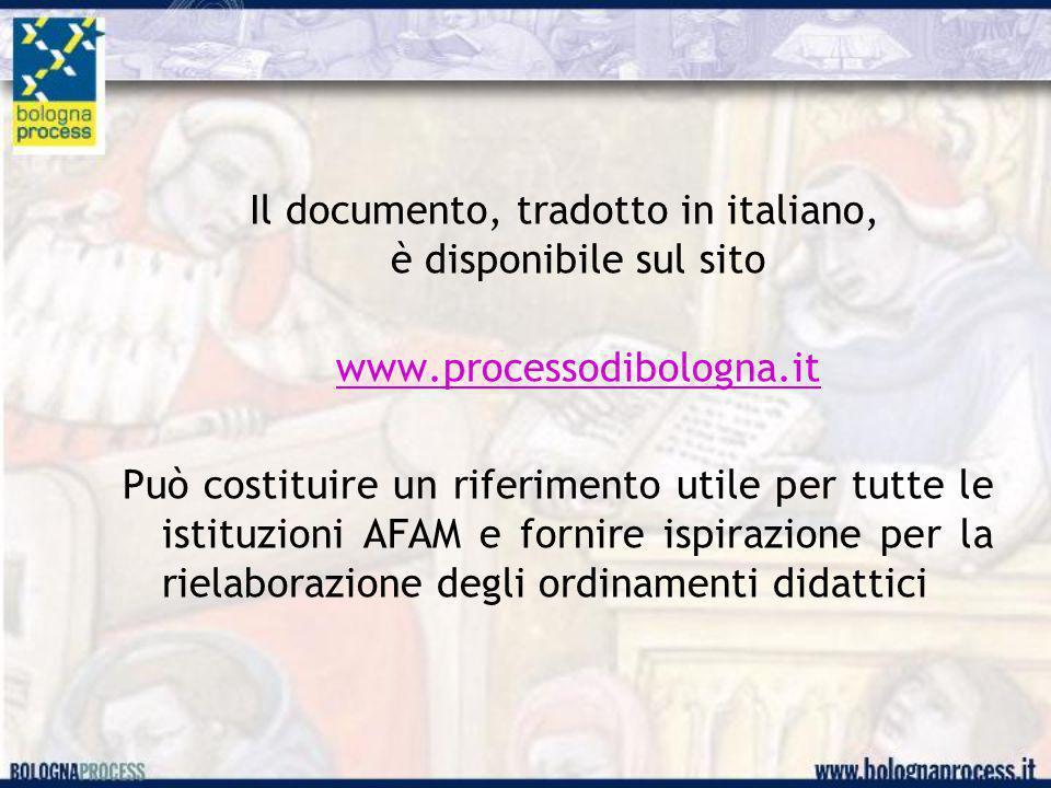 Il documento, tradotto in italiano, è disponibile sul sito