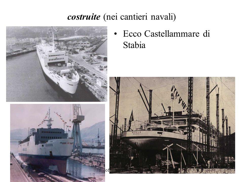 costruite (nei cantieri navali)