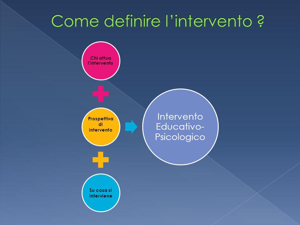Come definire l'intervento