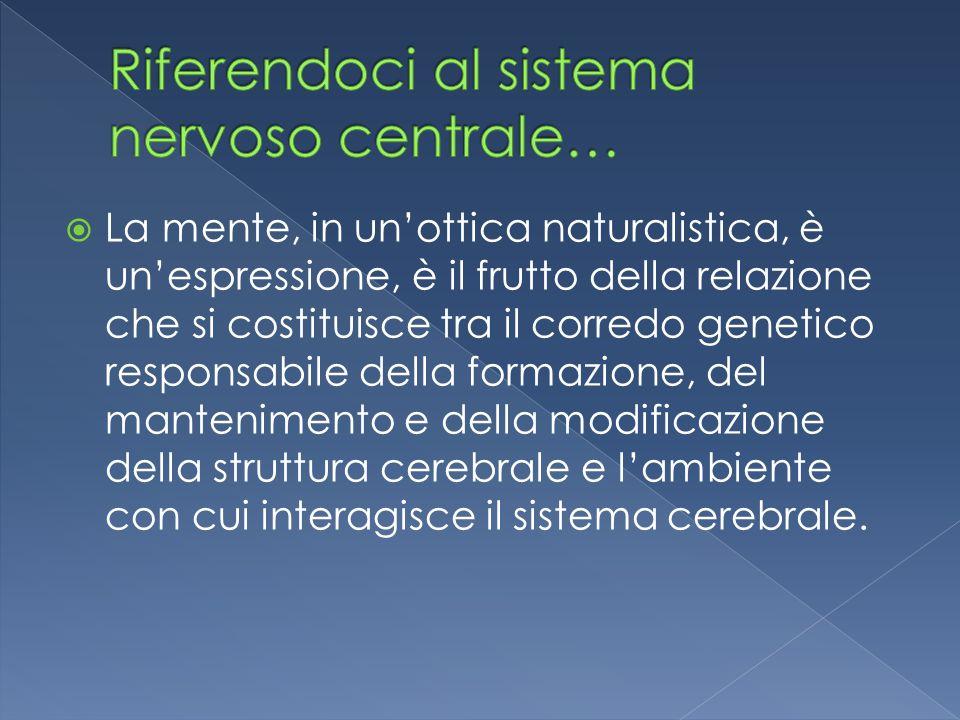 Riferendoci al sistema nervoso centrale…