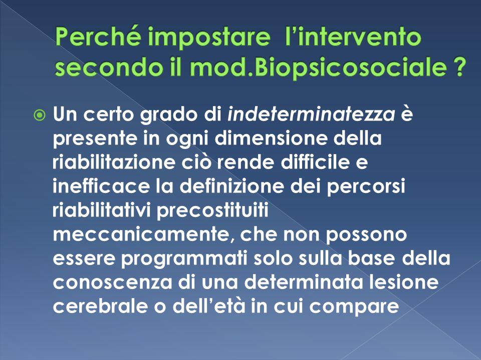 Perché impostare l'intervento secondo il mod.Biopsicosociale