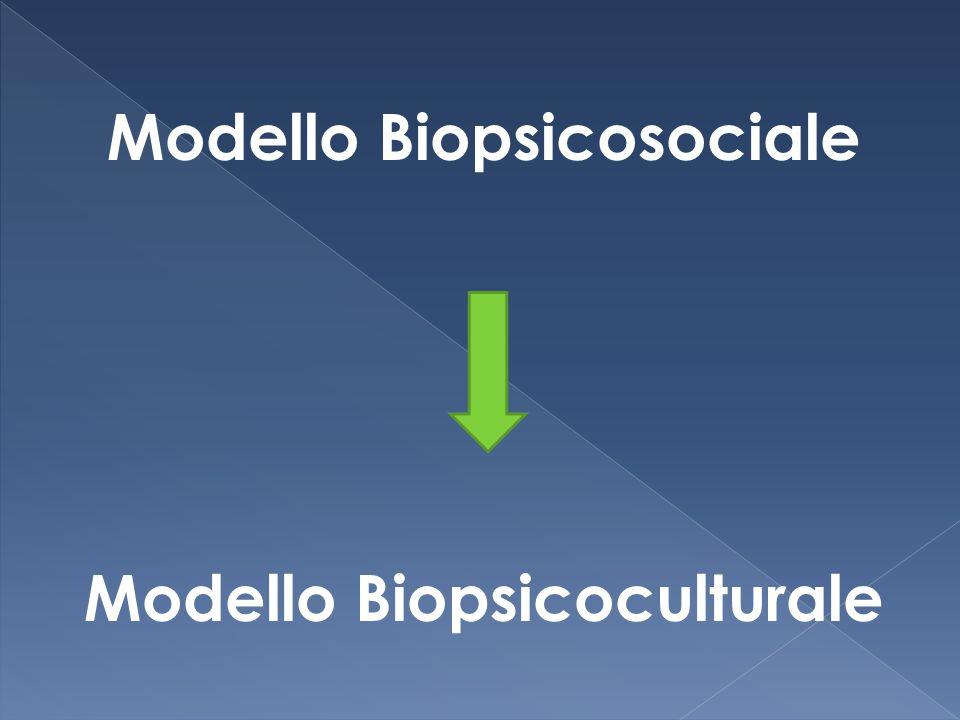 Modello Biopsicosociale Modello Biopsicoculturale