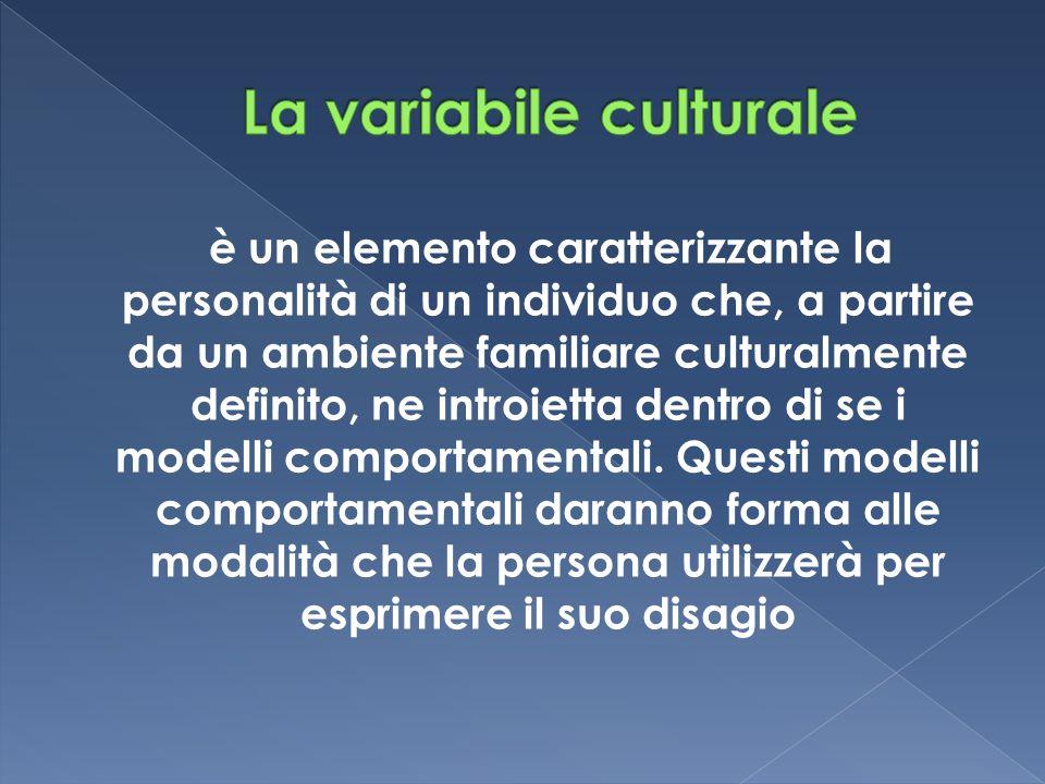 La variabile culturale