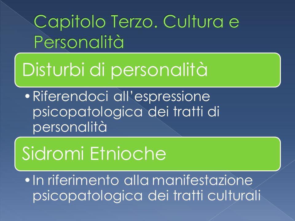 Capitolo Terzo. Cultura e Personalità
