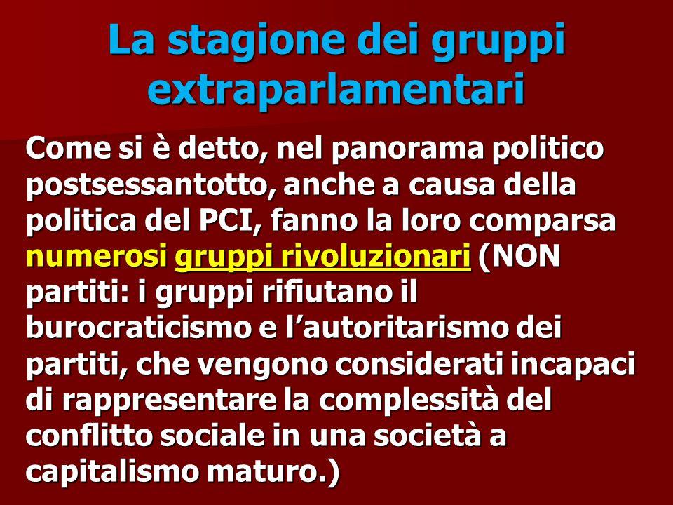 La stagione dei gruppi extraparlamentari