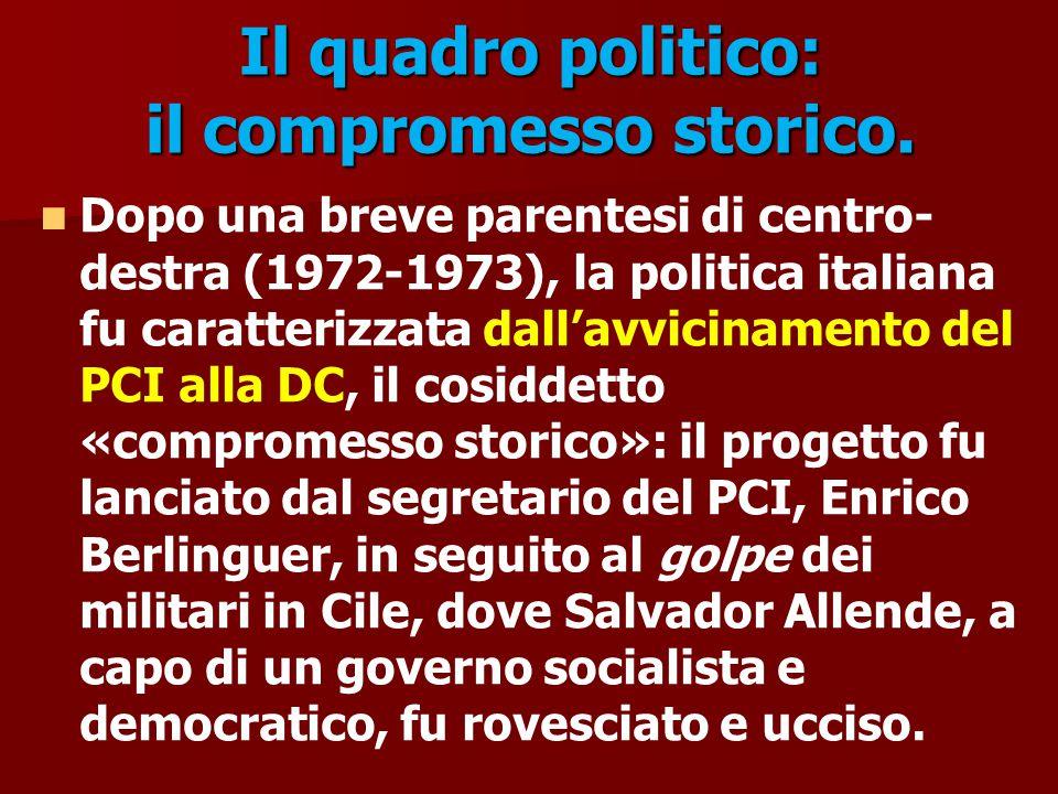 Il quadro politico: il compromesso storico.