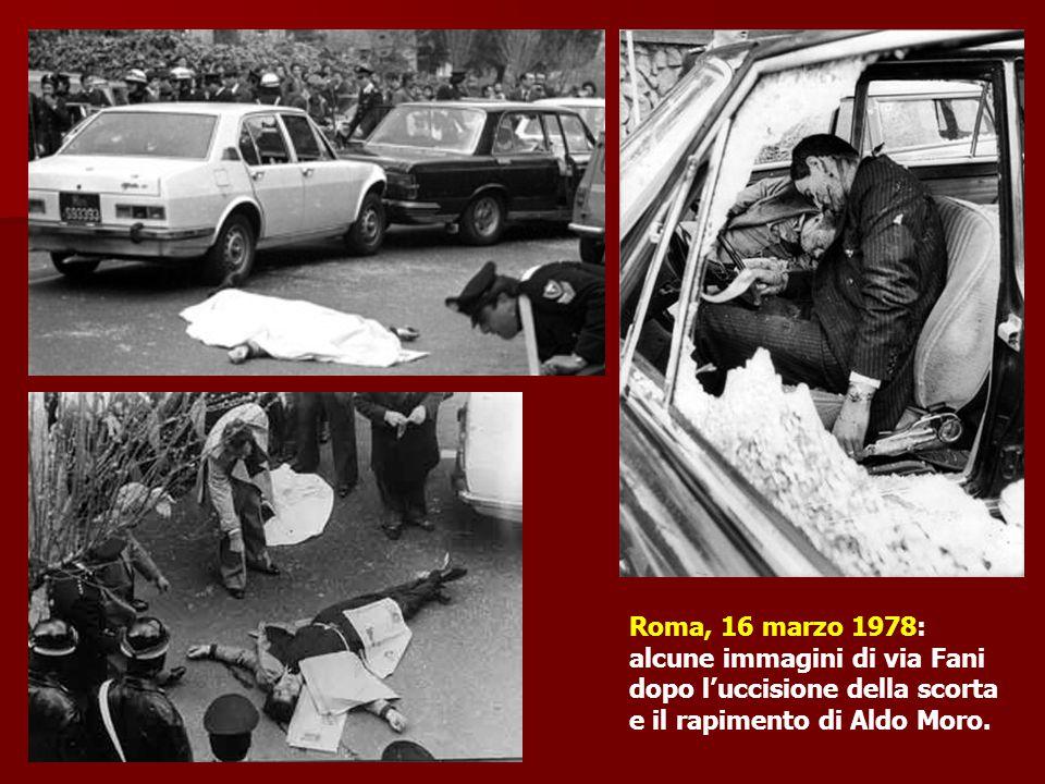 Roma, 16 marzo 1978: alcune immagini di via Fani.