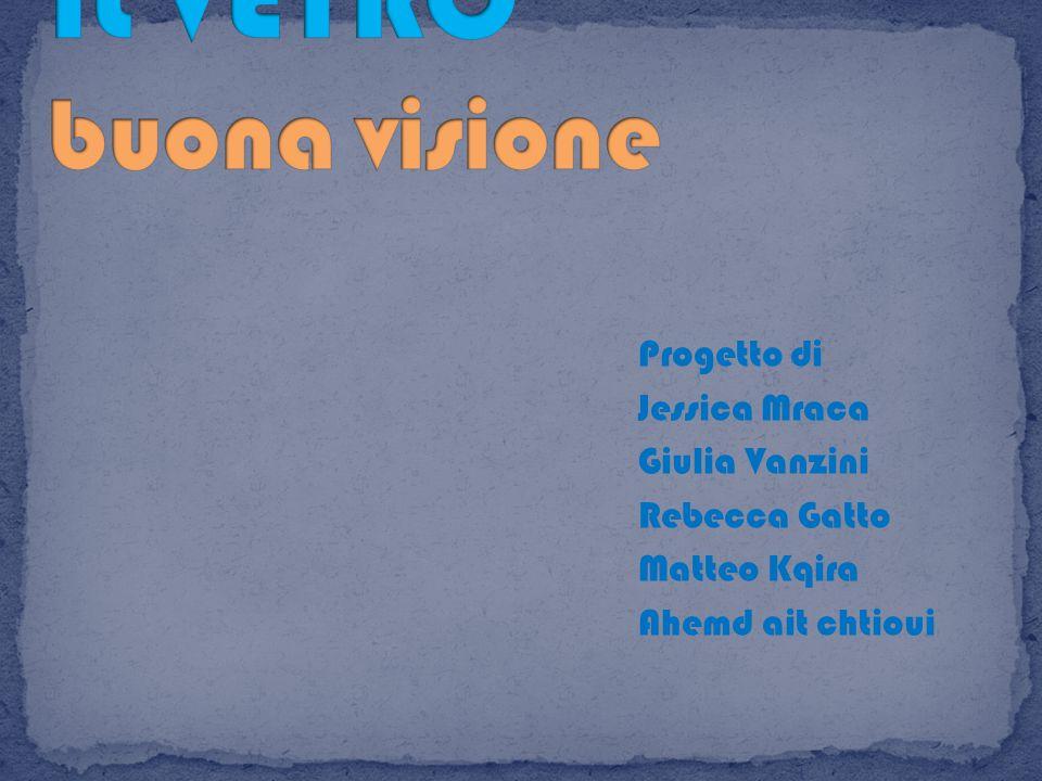IL VETRO buona visione Progetto di Jessica Mraca Giulia Vanzini Rebecca Gatto Matteo Kqira Ahemd ait chtioui