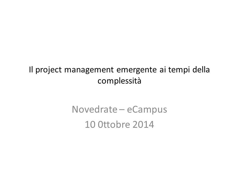 Il project management emergente ai tempi della complessità