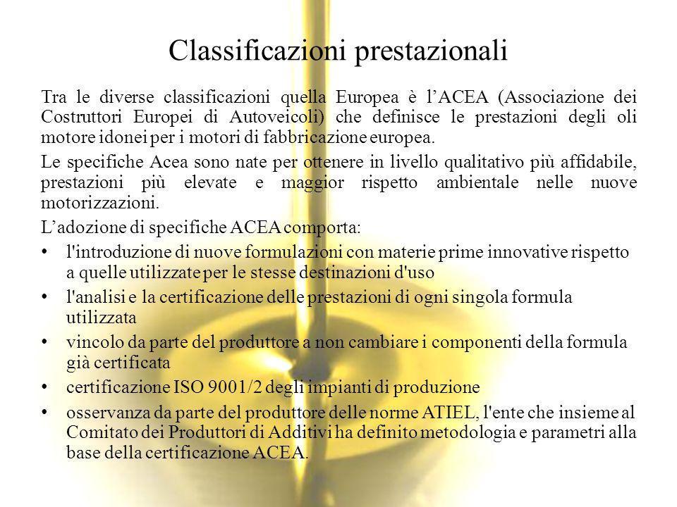 Classificazioni prestazionali
