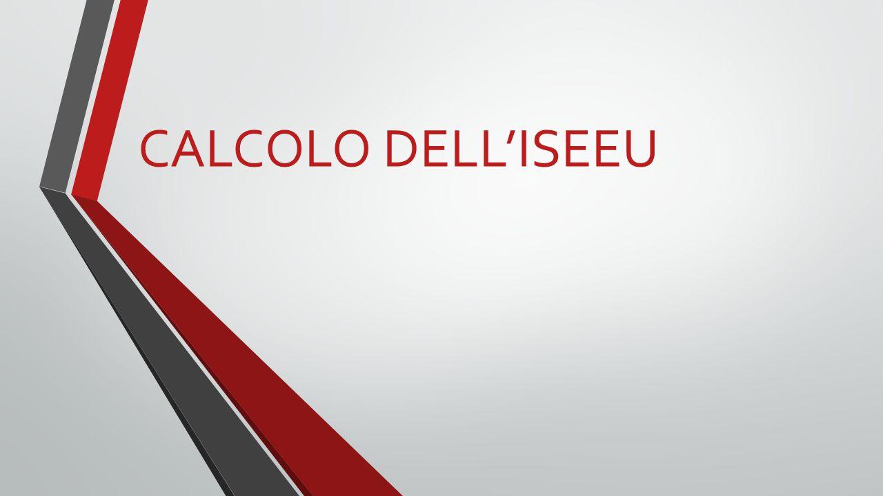 CALCOLO DELL'ISEEU